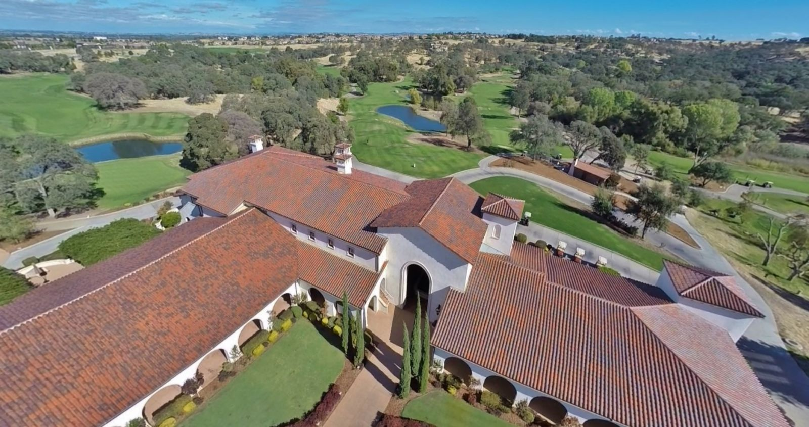 Aerial view of the clubhouse at Catta Verdera Country Club